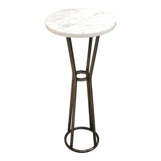 Caracole Modern Fusion Round Marble Accent Table For Sale