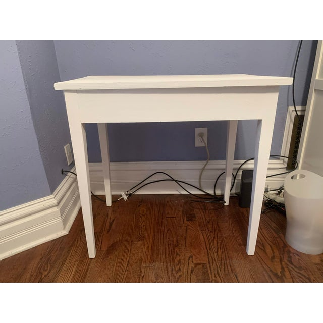 1960s Boho Chic Desk Painted in White Chalk Paint For Sale - Image 10 of 13