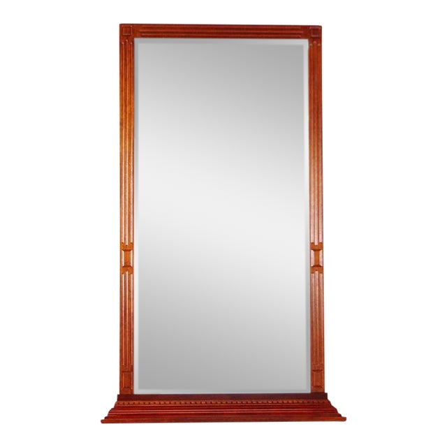 Large Regency Wood Framed Mirror   Chairish