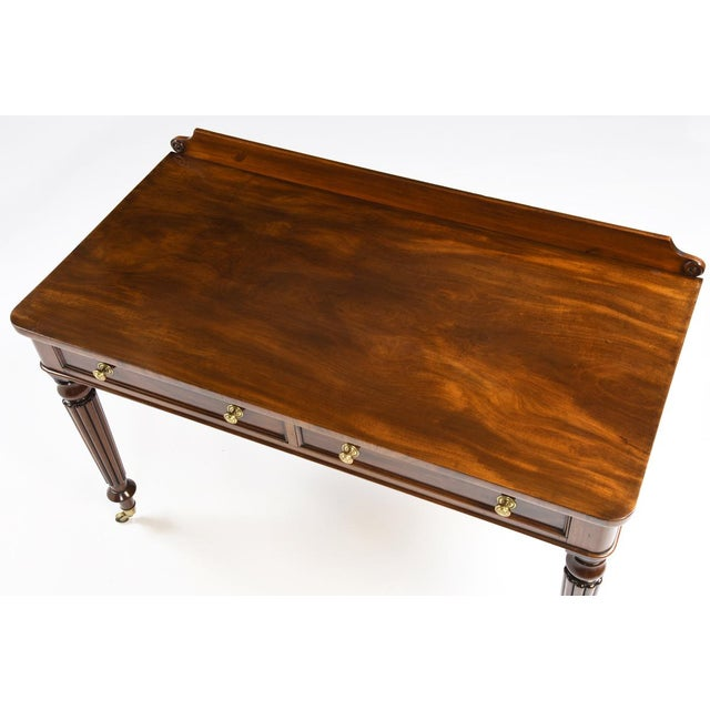 English Traditional Antique 1825 English Regency Mahogany Writing Table For Sale - Image 3 of 4