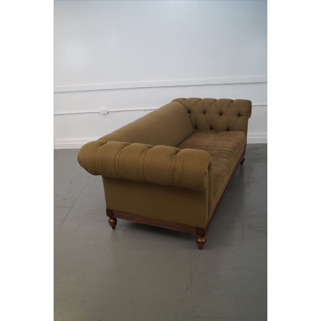Ethan Allen British Classics Long Tufted Sofa For Sale - Image 7 of 10