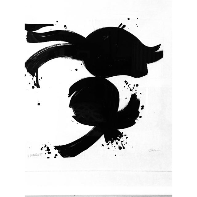 White 20th Century Abstract Ink on Paper For Sale - Image 8 of 10