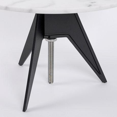 Tom Dixon Tom Dixon Screw Table with White Marble Top For Sale - Image 4 of 5