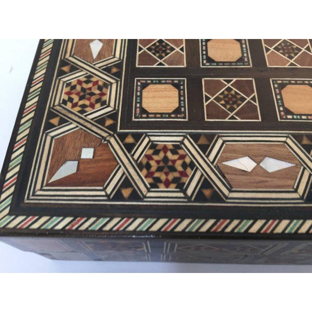Syrian Inlaid Mosaic Backgammon and Chess Game Box For Sale In Los Angeles - Image 6 of 10