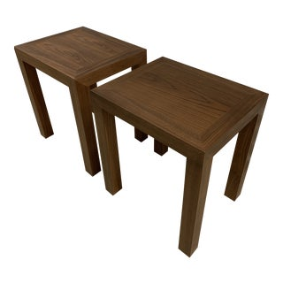Mid-Century Modern Hc28 Walnut Side Tables - a Pair For Sale