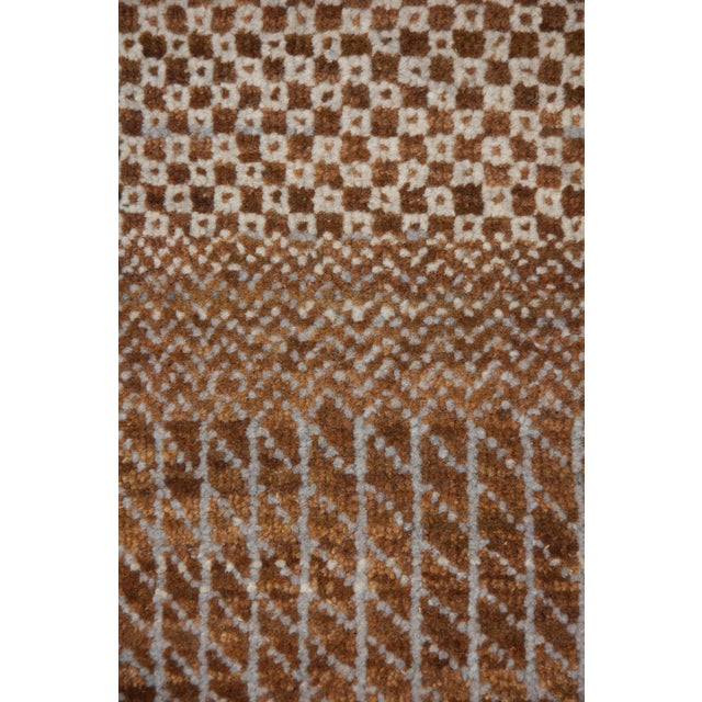 "New Tonal Stripe Hand Knotted Area Rug - 9'1"" x 12'6"" - Image 4 of 4"