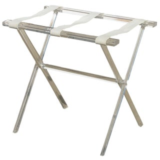 Vintage Lucite Acrylic Luggage Rack For Sale