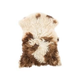 """Contemporary Natural Sheepskin Pelt - 2'3""""x3'1"""" For Sale"""