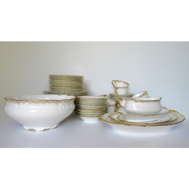 Vintage BMdeM, L. Strauss & Sons for Limoges Gilt Medallion Dinnerware - 60 Pieces For Sale - Image 13 of 13