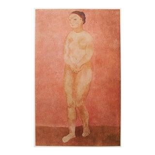 1948 Picasso Original Grand Nu Rose Lithograph