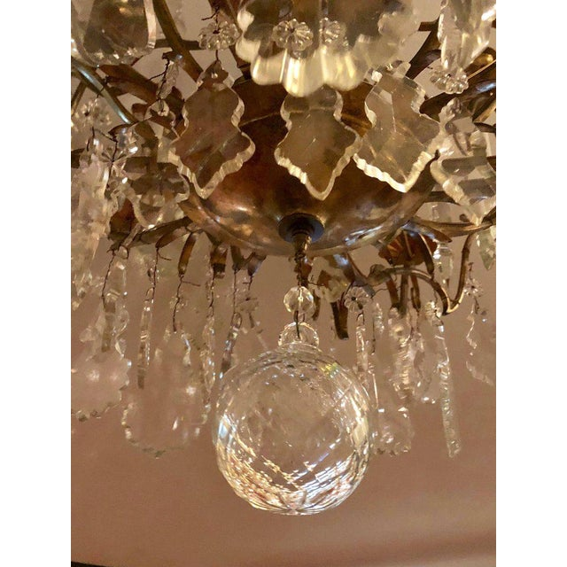 Bronze and Crystal Palatial Thirty-Light Chandelier For Sale - Image 10 of 13
