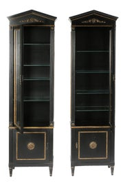 Image of Black China and Display Cabinets