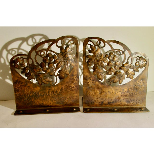 Arts and Crafts Pierced Copper Bookends - a Pair For Sale In New York - Image 6 of 6