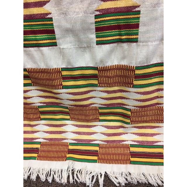 """African Tribal Vintage Textile Throw - 41"""" x 79"""" - Image 6 of 11"""