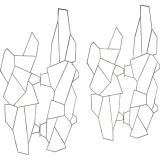 1960s Geometric Metal Screens by Pedro Ramirez Vasquez - A Pair