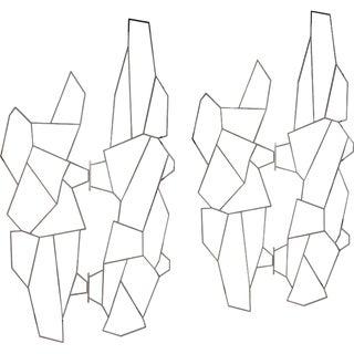 Pair of 1960s Geometric Metal Screens by Pedro Ramirez Vasquez