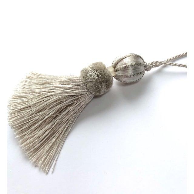 "Boho Chic Ivory Beaded Key Tassel - 4.5"" For Sale - Image 4 of 8"