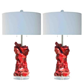 Image of Ruby Red Table Lamps