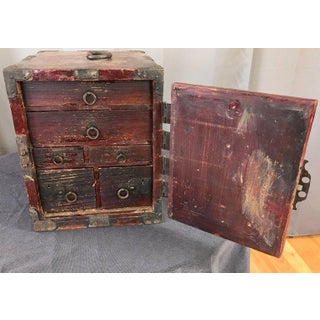 Antique Compact Chinese Seaman's Chest With Locks and Key Preview