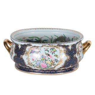 1930s Chinese Decorative Porcelain Foot Bath For Sale