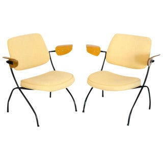 Pair of Small Industrial Lounge Chairs - Thonet For Sale
