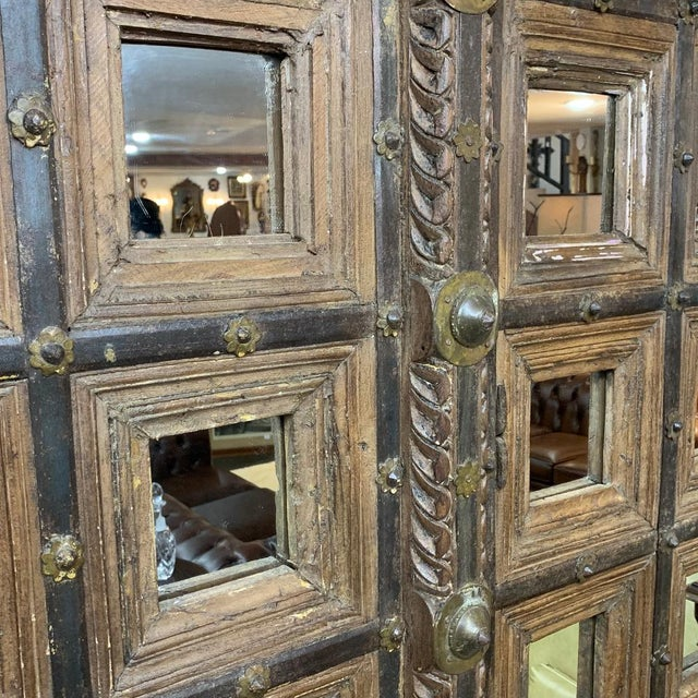 18th Century Mughal Empire Wood Doors-a Pair For Sale - Image 4 of 7