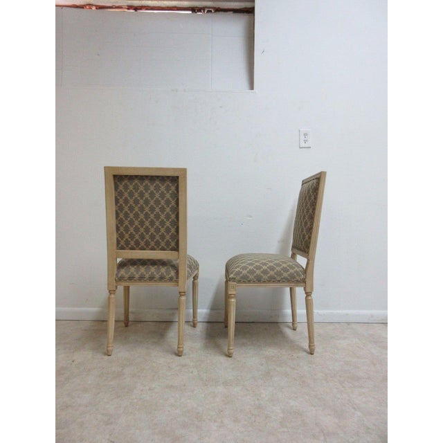 Brown Ethan Allen Swedish Side Chairs - A Pair For Sale - Image 8 of 11
