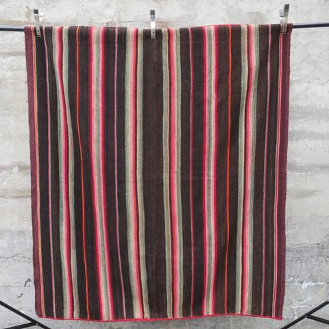 Boho Chic Peruvian Frazada Rug - 5′10″ × 5′10″ For Sale - Image 3 of 5