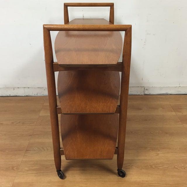 Finn Juhl Style Rolling Bar Cart For Sale - Image 9 of 11