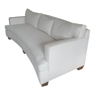 Theodore Alexander Off-White Crypton Fabric Curved Sofa