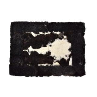 "Sheepskin Rug Meditation Yoga Mat Eco Friendly Black & White 2'6""x3'5"" For Sale"