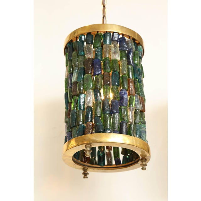 Mid 20th Century Small Multicolored Lantern For Sale - Image 5 of 8
