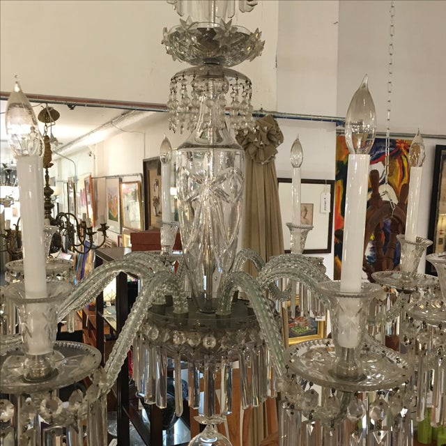 Antique Eight Arm Crystal Chandelier - Image 9 of 11