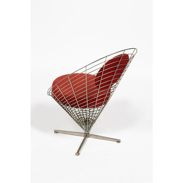 1960s Vire Cone Chair by Verner Panton For Sale - Image 5 of 11