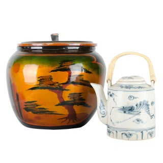 Japanese Lacquer Padded Teapot Caddy For Sale