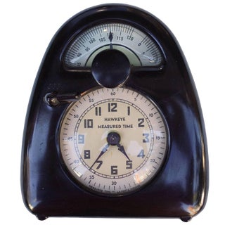 Mid-Century Isamu Noguchi Hawkeye Measured Time Clock and Timer For Sale