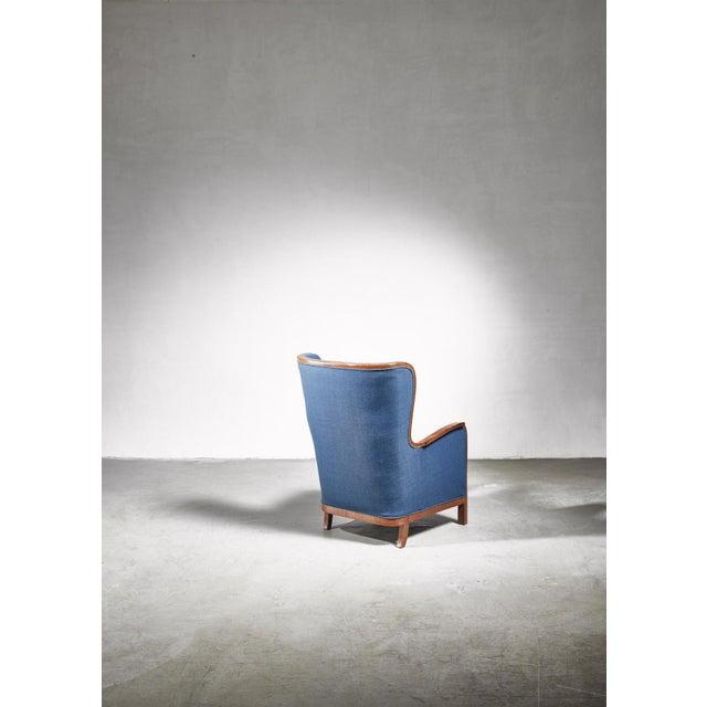 1940s Frits Henningsen Wingback Chair, Denmark, 1940s For Sale - Image 5 of 7