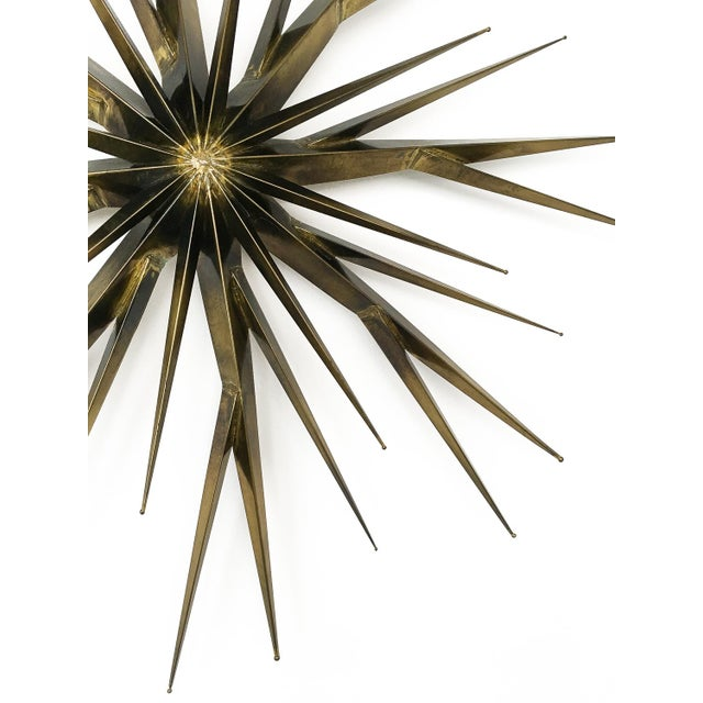 Curtis Jere Patinated Brass Branching Starburst Wall Sculpture, 1981 For Sale - Image 5 of 11