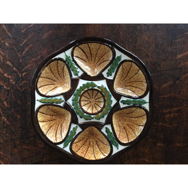 Vintage French Quimper Oyster Plate - Image 4 of 5
