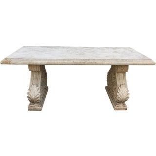 Vintage Faux Stone Dining Table