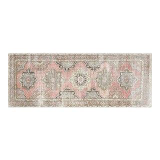 "1960s Turkish Oushak Carpet 4'7"" X 12'1"" For Sale"