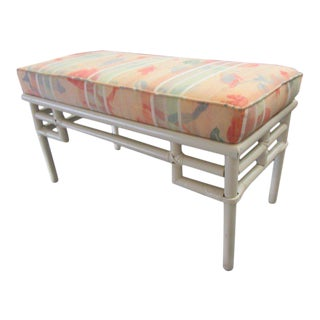 Upholstered Ficks reed Bench For Sale