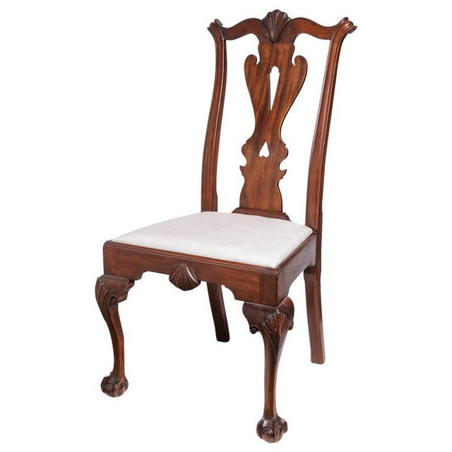 Set of Six 19th Century English, Chippendale Style Mahogany Dining Chairs - Image 8 of 8
