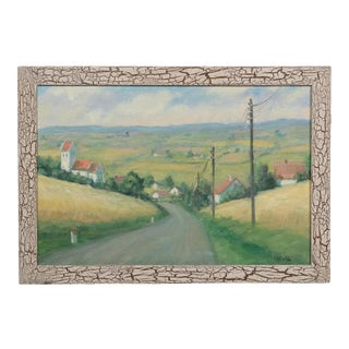 Rustic Countryside Landscape by Helio Wernegreen For Sale