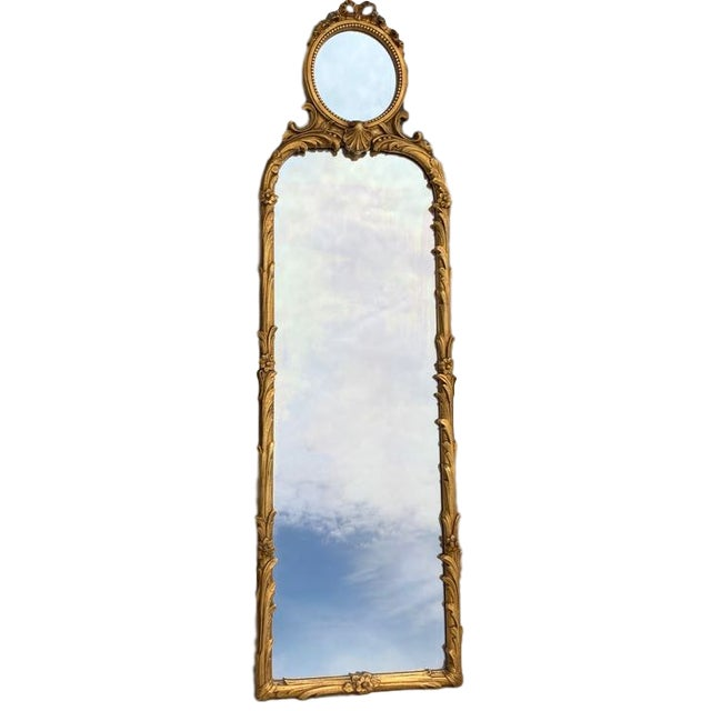 Friedman Brothers Trumeau Style Mirror For Sale - Image 9 of 9
