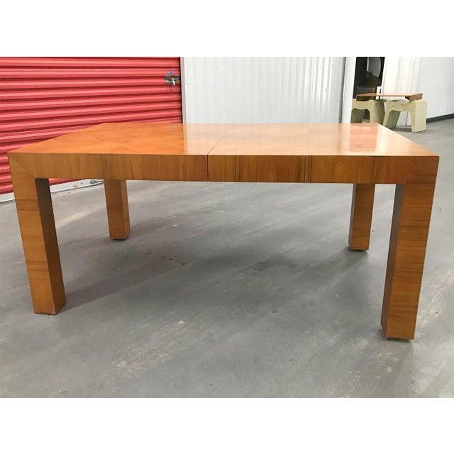 Mid-Century Modern Mid-20th Century Milo Baughman / Thayer Coggin Burl Dining Table For Sale - Image 3 of 12