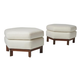 Pair of Ottomans by Frank Lloyd Wright for Henredon For Sale