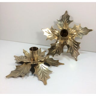 Vintage Brass Candleholders - A Pair Preview