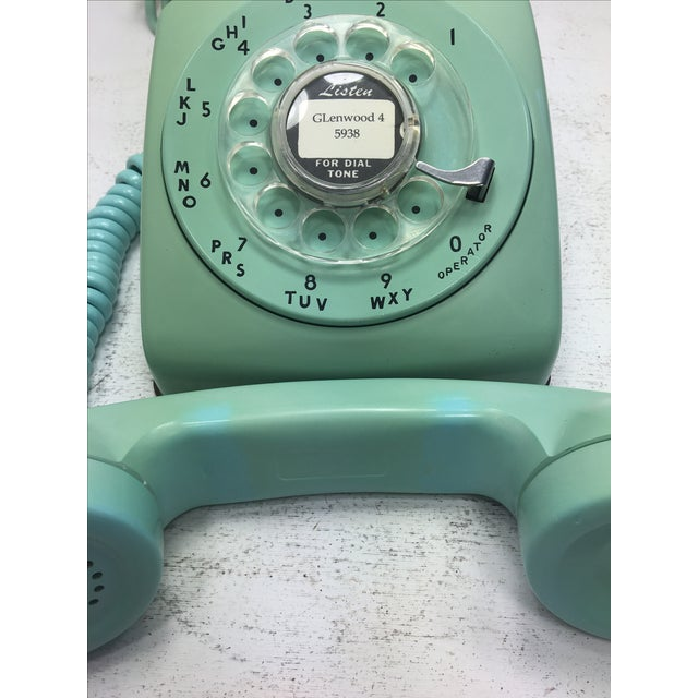 Turquoise 500 Rotary Dial Desk Phone - Image 8 of 11