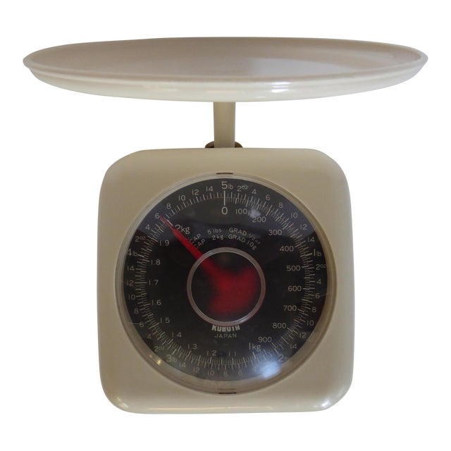 1950s Japanese Compact Kubota Kitchen Scale For Sale